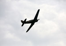 飞行的显示和特技展示在Malopolski Piknik Lotniczy 库存图片