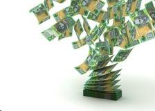 飞行的澳大利亚元 免版税库存图片