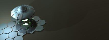飞行的质朴的茶碟v2 免版税库存照片