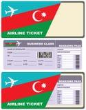飞行的飞机票向阿塞拜疆 库存图片