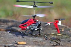 飞行直升机一点模型  免版税库存图片