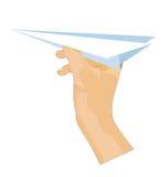 飞行纸张 皇族释放例证