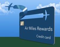 飞行英里信用卡 库存例证