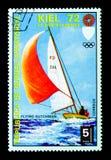 飞行荷兰人,夏季奥运会1972年,慕尼黑:在基尔serie的事件,大约1972年 免版税库存照片