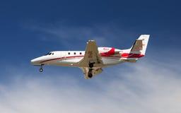 飞行蒂罗尔赛斯纳560XL引证Excel 库存图片