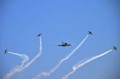飞行表演-航空器3 库存照片