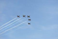 飞行表演 航空L-39 Albatros 免版税库存图片