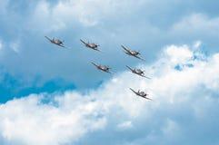 飞行表演2013年,拉多姆2013年8月30日 图库摄影