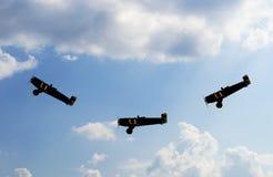 飞行表演 免版税图库摄影