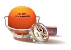 飞行记录仪 库存图片