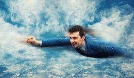 飞行象超级英雄 免版税库存图片