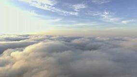 飞行通过云彩 低灯cloudscapes 股票视频