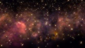 飞行通过星际和星云在外层空间 皇族释放例证