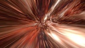 飞行通过蠕虫孔隧道或抽象能量漩涡 库存例证