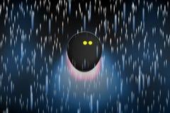 飞行通过象彗星的开始的南瓜球的概念 免版税图库摄影
