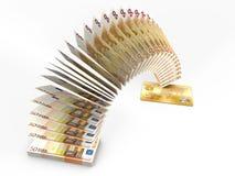 飞行金钱 3D现金后面概念 免版税库存图片