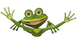 飞行青蛙 免版税图库摄影