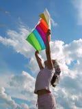 飞行风筝起始时间 图库摄影