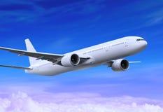 飞行飞机 免版税库存照片