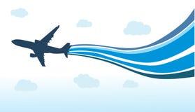 飞行飞机 免版税图库摄影
