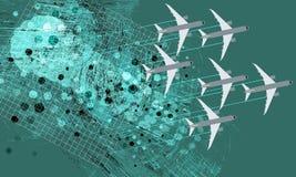 飞行飞机 图库摄影