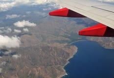 飞行高在中美洲上 免版税库存图片