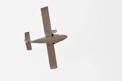 飞行水上飞机SK-12猎户星座 底视图 免版税库存图片
