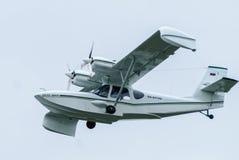 飞行水上飞机SK-12猎户星座 库存图片