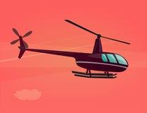 飞行直升机象  图库摄影