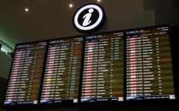 飞行离开日程表 免版税图库摄影