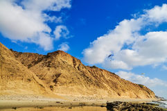 飞行滑翔伞 免版税图库摄影