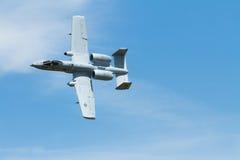 飞行A10 warthog 免版税图库摄影