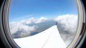 飞行Fisheye的飞机 股票录像