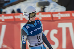 飞行Vikersund (挪威) 2015年2月14日的WC滑雪(从第2个一半 图库摄影