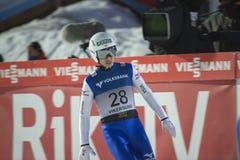 飞行Vikersund (挪威) 2015年2月14日的WC滑雪(从第2个一半 库存图片