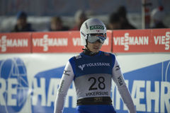 飞行Vikersund (挪威) 2015年2月14日的WC滑雪(从第2个一半 库存照片