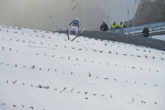 飞行Vikersund (挪威) 2015年2月14日的WC滑雪 免版税库存照片