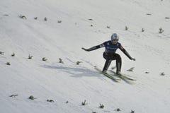 飞行Vikersund (挪威) 2015年2月14日的WC滑雪 免版税图库摄影