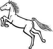 飞跃与反撞力的马 向量例证