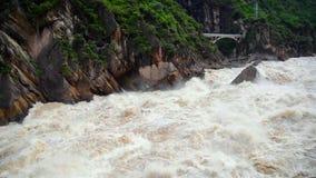 飞跃峡谷的老虎在中国 影视素材