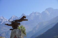 飞跃峡谷的老虎在丽江,云南,中国 免版税图库摄影
