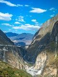 飞跃峡谷,云南的老虎在中国 库存图片