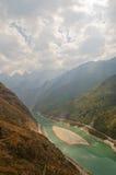 飞跃峡谷,云南,瓷的老虎 库存照片
