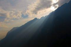 飞跃老虎云南的瓷峡谷 库存照片