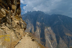 飞跃老虎云南的瓷峡谷 库存图片