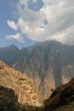 飞跃老虎云南的瓷峡谷 免版税图库摄影