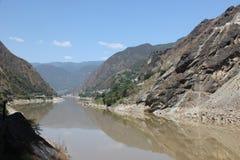 飞跃老虎的峡谷 库存照片