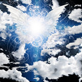 飞过的天使 图库摄影