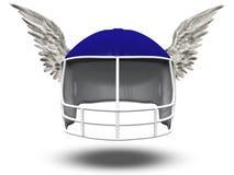 飞过的橄榄球盔 免版税图库摄影