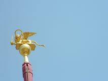 飞过的狮子,威尼斯的标志 图库摄影